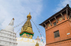 Stupa in the  Nepal Royalty Free Stock Photos