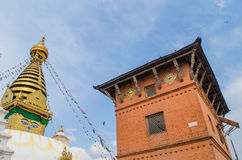 Stupa in the  Nepal Royalty Free Stock Images
