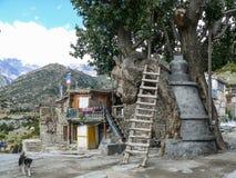 Stupa in Ngawal village, Nepal Royalty Free Stock Photo