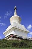Stupa no templo de Songzanlin, o monastério budista tibetano o maior na província de Yunnan, China Imagem de Stock Royalty Free