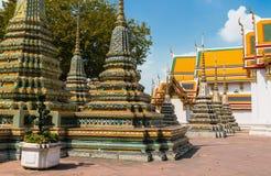Stupa no templo de Wat Phra Kaew, Banguecoque Foto de Stock Royalty Free