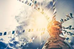 Stupa no templo do macaco de Swayambhunath Fotografia de Stock