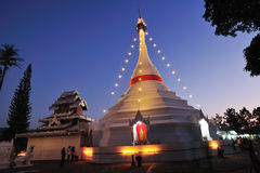 Stupa in northen of Thailand Stock Photo