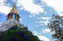 Stupa op de heuvel in het hout Stock Foto's