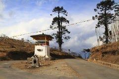 Stupa op de Pas van Wangdue Phodrang Royalty-vrije Stock Afbeeldingen