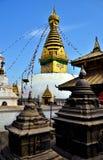 Stupa på Swayambhunath kathmandu nepal arkivbild
