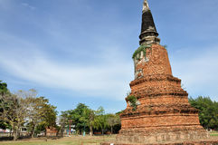 Stupa på Wat Langkhakhao Arkivfoto
