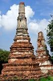 Stupa på Wat Lokayasutha Arkivbild
