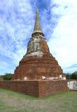 Stupa på Wat Mahathat, arkeologiska platser och kulturföremål Arkivfoton
