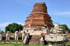 Stupa på Wat Thammikarat Royaltyfri Fotografi