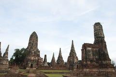 Stupa and pagoda at Wat Chaiwattanaramn Royalty Free Stock Photo
