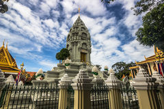 Stupa in Phnom Penh, Cambodia Royalty Free Stock Photo