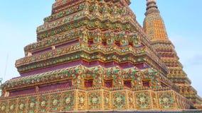 Stupa Phra Maha Chedi Si Rajakarn, Wat Pho, Бангкока, Таиланда видеоматериал