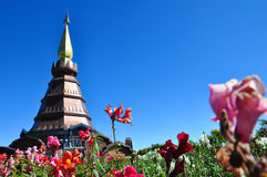 The Stupa Phra Mahathat Naphamethanidon. At Doi Inthanon, the highest mountain of Thailand, amidst a beautiful garden Stock Image