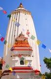 Stupa and prayer flags, Swayambhunath, Kathmandu, Nepal Stock Photo