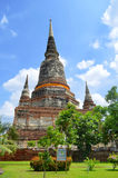 Stupa przy Watem Yai Chai Mongkol w Ayutthaya Obraz Stock