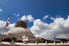 Stupa repairs, Boudhanath Temple, Kathmandu, Nepal Stock Images