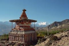 Stupa rituale buddista in mustang superiore, Nepal fotografia stock