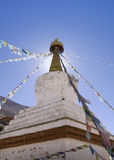 Stupa, Rongbuk Monastery, Tibet. View of the Rongbuk Monastery stupa, Tibet Royalty Free Stock Photography