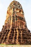 Stupa in the ruin temple. The ruined stupa in ancient temple Ayutthaya Stock Images