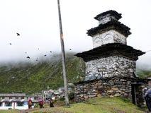 Stupa in Samdo village Royalty Free Stock Images
