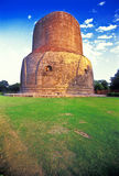 Stupa from  Sarnath buddhist temple. At the sunset.(positive slide scan Royalty Free Stock Image