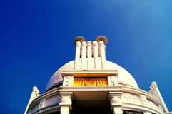 Stupa Shanti: παγόδα ειρήνης που αφιερώνεται Βούδας στο Λόρδο Στοκ εικόνες με δικαίωμα ελεύθερης χρήσης