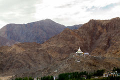 Stupa Shanti σε Leh Ladakh Στοκ Φωτογραφίες