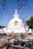 Stupa Shanti - буддийское stupa мира стоковые фотографии rf