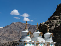 Stupa an Shey-Palast Leh Ladakh, Indien Stockfoto