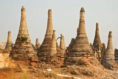 Stupa Shwe dans Tain images libres de droits