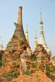 Stupa Shwe in Tain Royalty-vrije Stock Fotografie