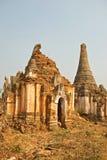 Stupa Shwe in Tain Stock Afbeelding