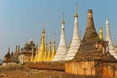 Stupa Shwe in Tain Stock Foto