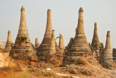 Stupa Shwe in Tain Royalty-vrije Stock Afbeeldingen