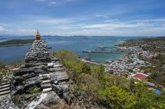 Stupa. At Sichang island,Thailand Royalty Free Stock Photography