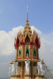Stupa. And sky in Thailand Stock Images