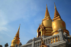 Stupa. And sky in Thailand Stock Image