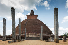 Stupa in Sri Lanka Stock Image