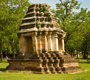 The Stupa of Sukothai historical park Stock Photos