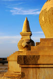 Stupa sunset. The ruins of stupa in the sunset. Inner Mongolia. China stock image
