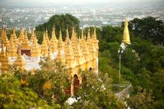 Stupa at Sutaungpyai Pagoda,Mandalay Hill. Stock Image