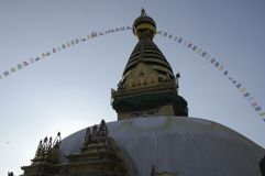 Stupa Swayambhu ,Kathmandu Royalty Free Stock Photography