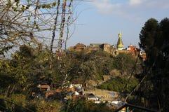 Stupa Swayambhu ,Kathmandu Royalty Free Stock Photos
