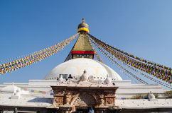 Stupa Swayambhunath in the Kathmandu, Nepal Royalty Free Stock Photography