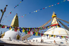 Stupa Swayambhunath in the Kathmandu, Nepal Stock Photo