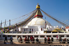 Stupa Swayambhunath in the Kathmandu, Nepal Stock Photography