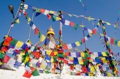 Stupa Swayambhunath in the Kathmandu, Nepal Stock Images