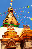 Stupa in Swayambhunath, Kathmandu, Nepal Royalty Free Stock Photo