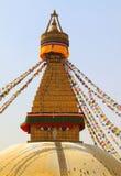 Stupa of the swayambhunath in kathmandu, Nepal Stock Photos